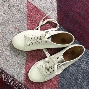 NWT Frye Leather Sneakers Low Top Lace Up